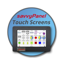 Click this bubble to learn about savvyPanel touch touchscreen operator stations