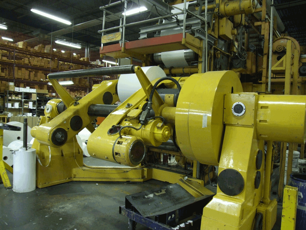 High Speed Printing Press Infeed Turret Unwinder
