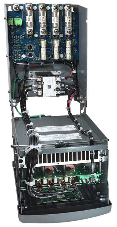 powerPLX20 with fuses, contactor and power components